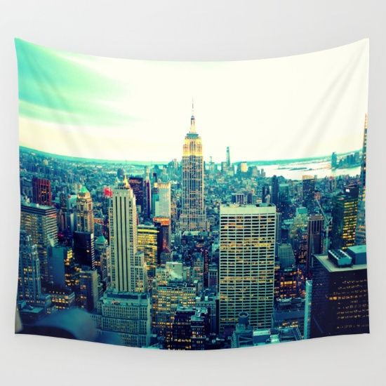 New York City Wall Tapestry By 2sweet4words Designs Society6 New York Theme Tapestry Wall Tapestry