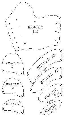 Template for bracer armadura pinterest template archery and template for bracer pronofoot35fo Images