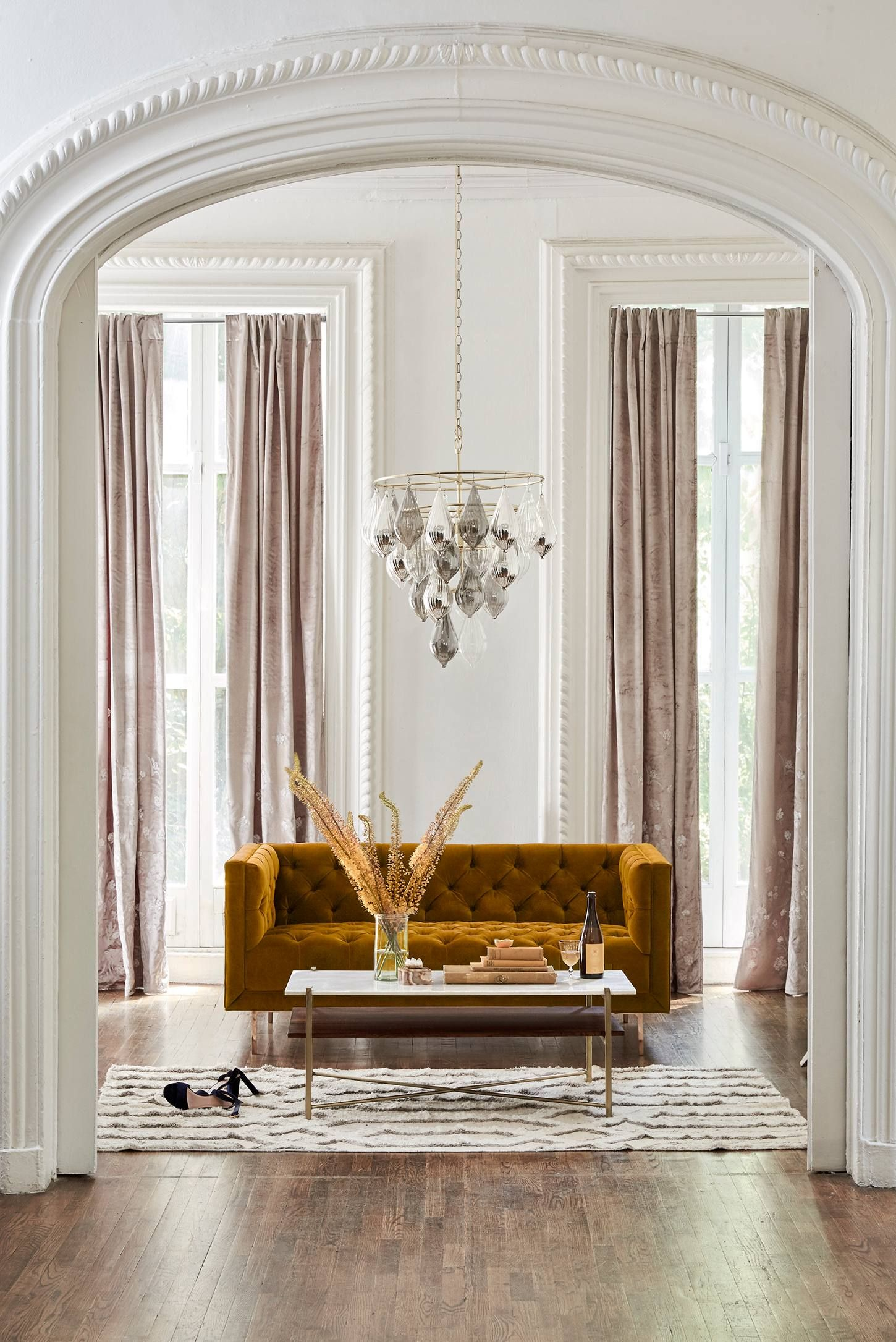 Clustered Droplet Chandelier   Settees, Chandeliers and Living rooms