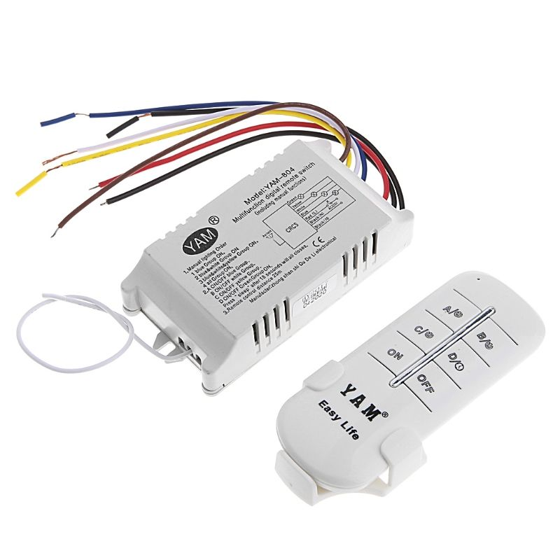 4 Ways On Off 220v Wireless Receiver Lamp Light Remote Control Switch G205m Best Quality Remote Electrical Equipment Lamp Light