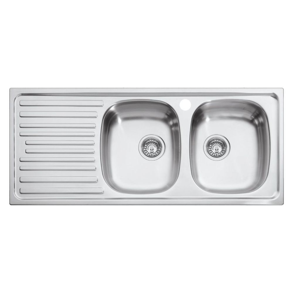 Eurodomo Inset Sink 2 Bowl - Masters Home Improvement - $205.00 ...