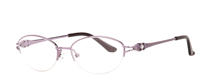 Pure Titanium frame and Swarovski crystal detailing in our mademoiselle frames (Clariti Eyewear)