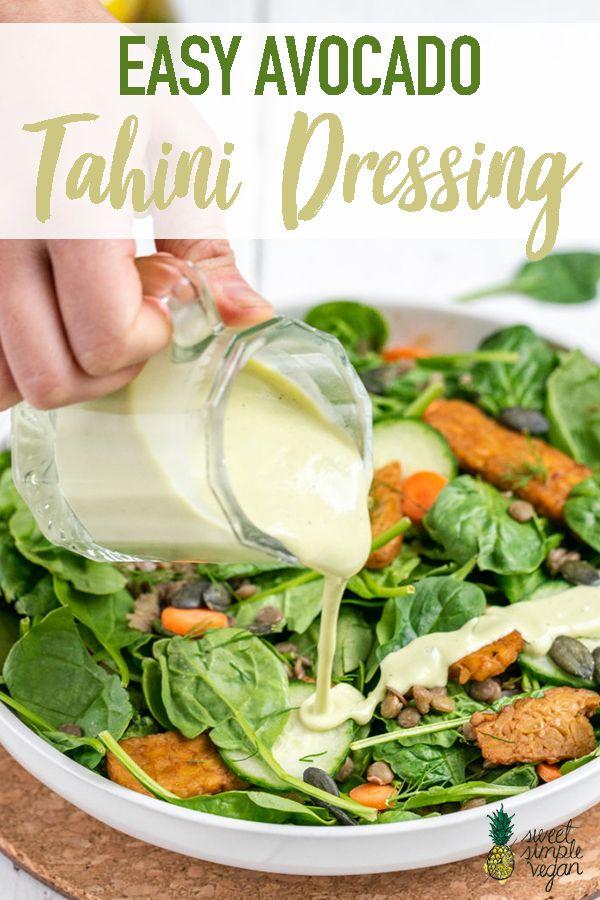 Easy Avocado Tahini Dressing