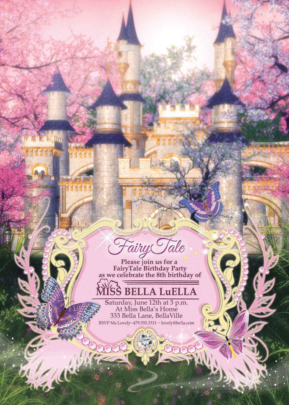 Adorable FairyTale Birthday Party Invitation by Bella LuElla. $12.75 ...