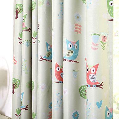 Cortinas infantiles con buhos cortinas blog cortinas - Telas cortinas infantiles ...