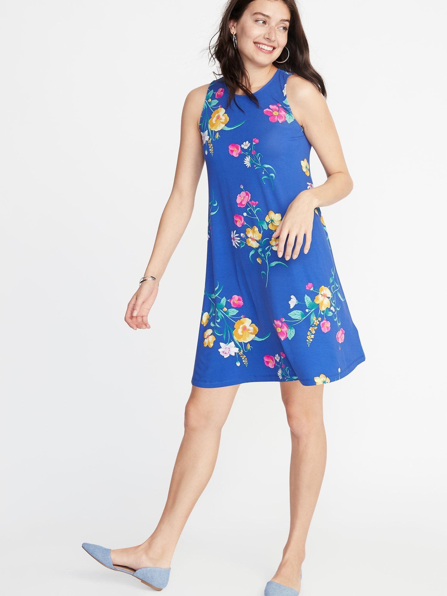 Sleeveless Jersey Swing Dress For Women Old Navy Jersey Swing Dress Fashion Womens Dresses [ 2000 x 1500 Pixel ]