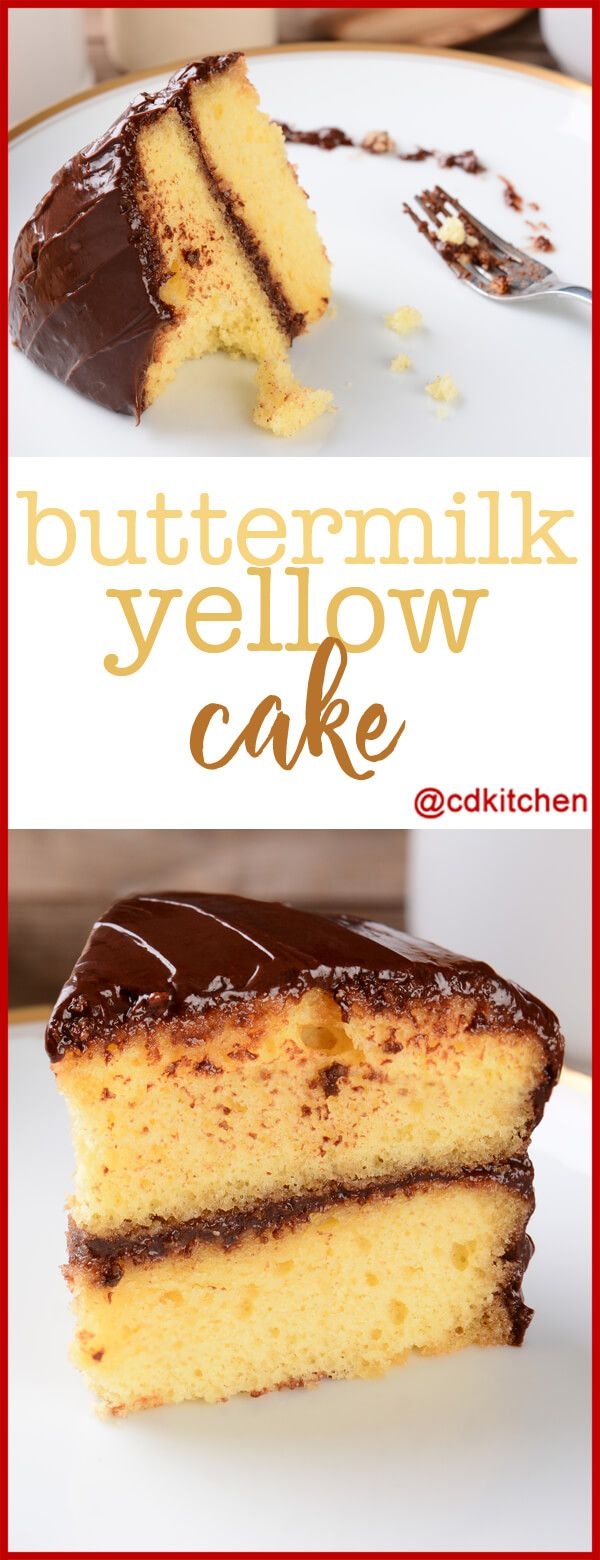 Moist Buttermilk Yellow Cake Made With Flour Baking Powder Salt Butter Suga Buttermilk Recipes Cake Recipe Using Buttermilk Yellow Cake Recipe Buttermilk
