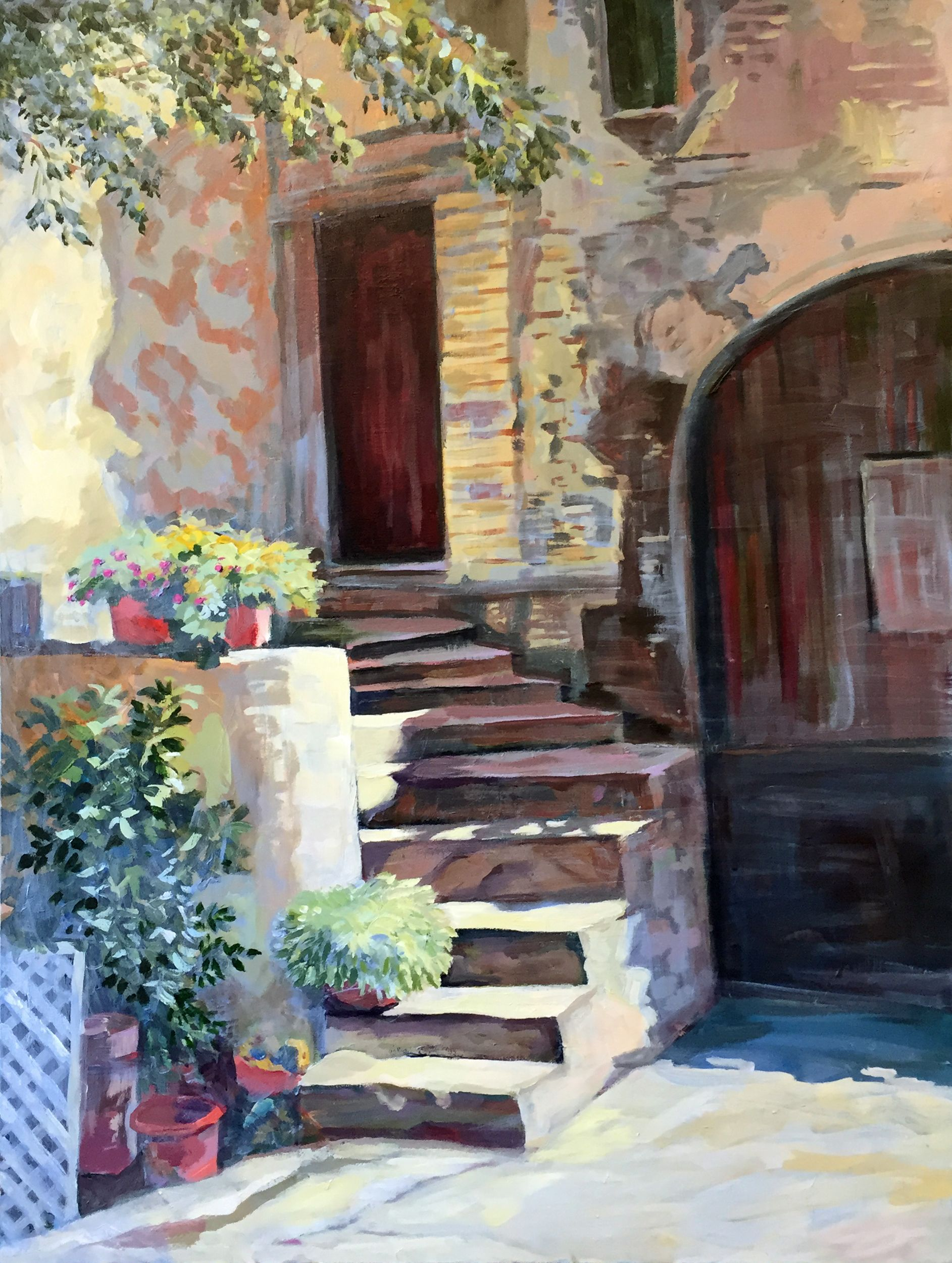 Italian Steps 36x48 acrylic | Stephen Moore Paintings | Art