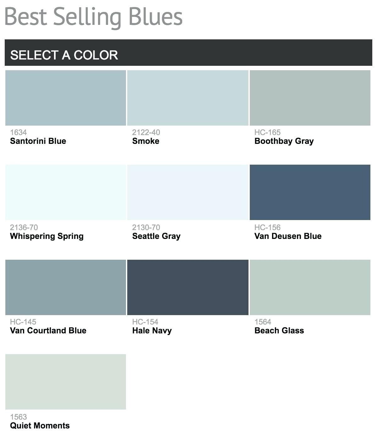 best selling benjamin moore blue paint colorsbest colors