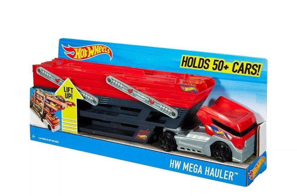 Hot Wheels Mega Hauler Semi Truck Trailer Storage Only Holds 50 Cars