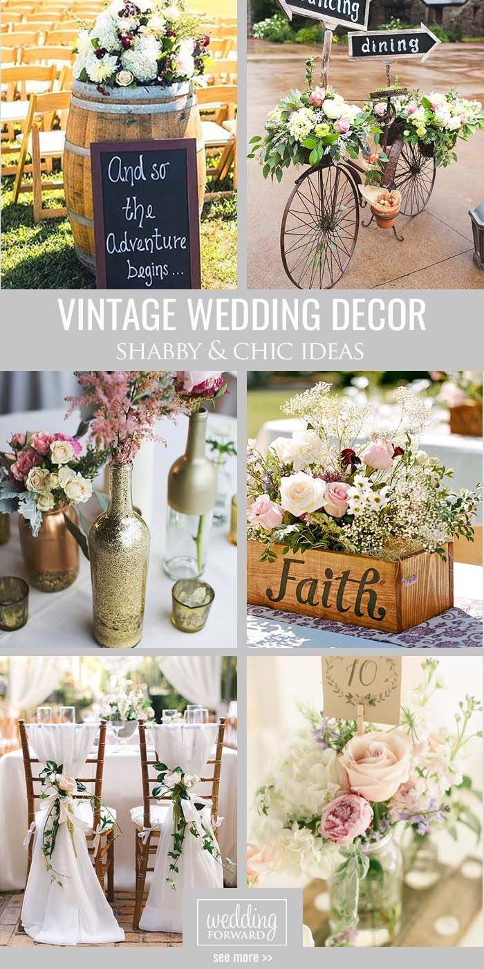 attractive Vintage Decorating Ideas For Weddings Part - 5: Shabby u0026amp; Chic Vintage Wedding Decor Ideas ❤ Our gallery contains many  fabulous ideas to