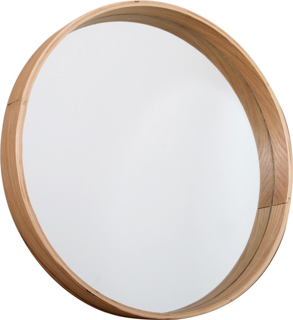Spiegel rund braun holz butik bathroom for Spiegel badezimmer holz