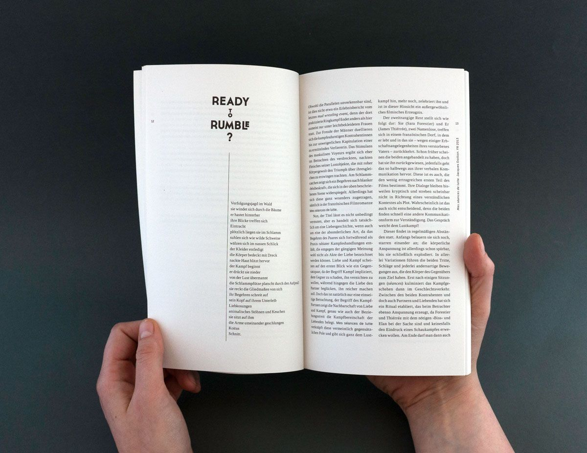 Kinoheft #8 | Editorial, Editorial design and Bauhaus