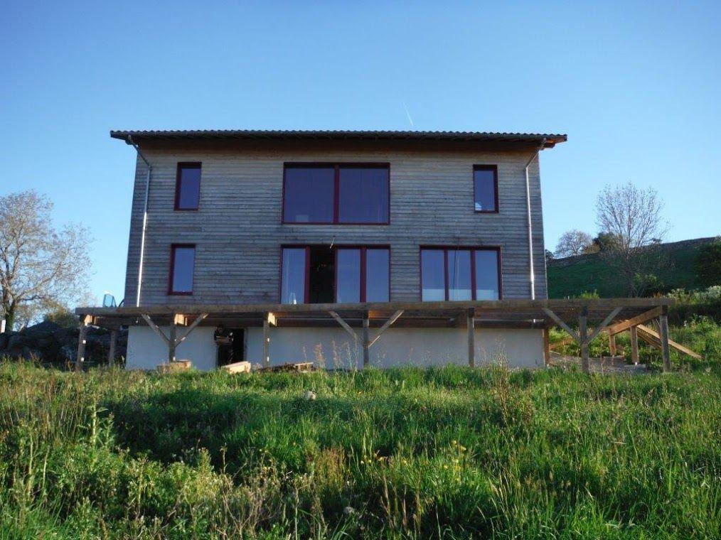 Bois et Paille charpente Eddy FRUCHARD - France Wood on House - maison bois et paille