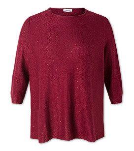 Pullover in der Farbe dunkelrot bei C&A
