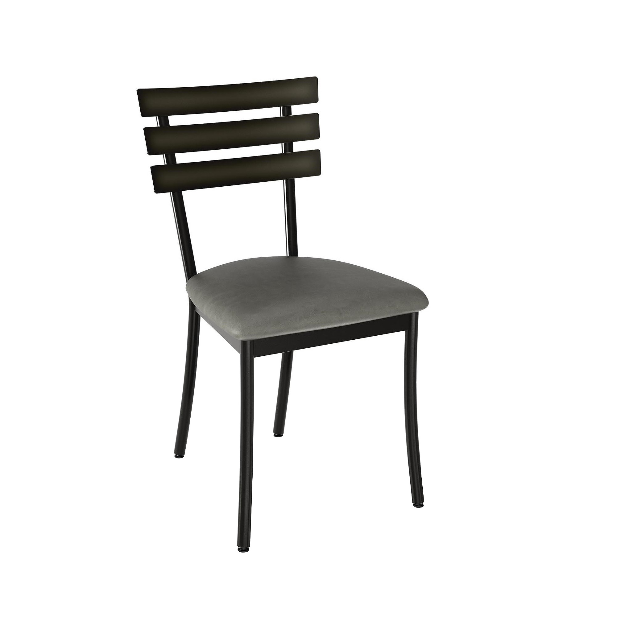 Excellent Unity Metal Dining Chair Gunmetal And Gray 2 In Set Amisco Bralicious Painted Fabric Chair Ideas Braliciousco