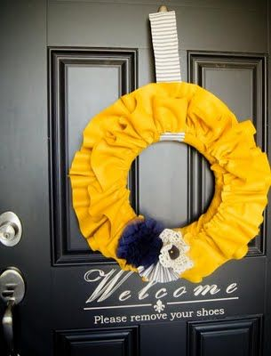 K.I.S.S. {Keep It Simple, Sister}: Fabulous Fall Felt Ruffle Wreath tutorial