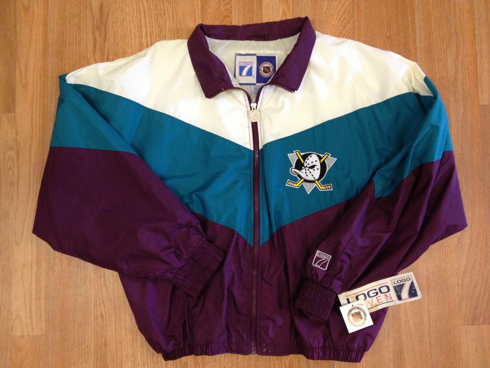 71c61c1cc Vintage Deadstock Anaheim Mighty Ducks Logo 7 Windbreaker Jacket Disney  Tisa 2 J