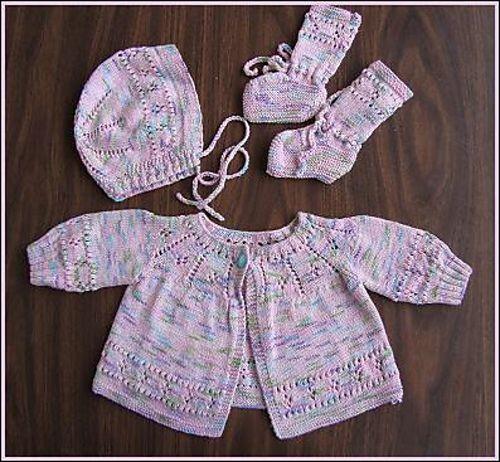 Ravelry Panda Cotton Layette Set Pattern By Crystal Palace Yarns