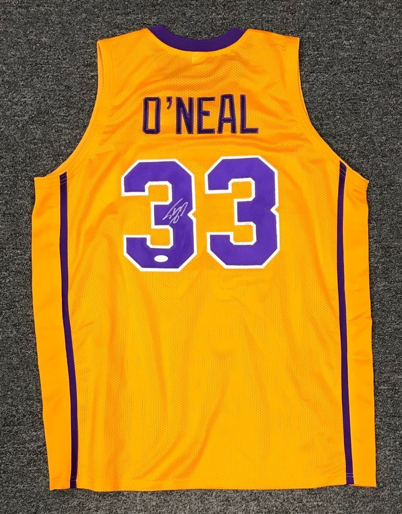 c3bba9fb9bf Shaquille O'Neal #33 Signed LSU Tigers Jersey AUTO Sz XL JSA WITNESSED COA