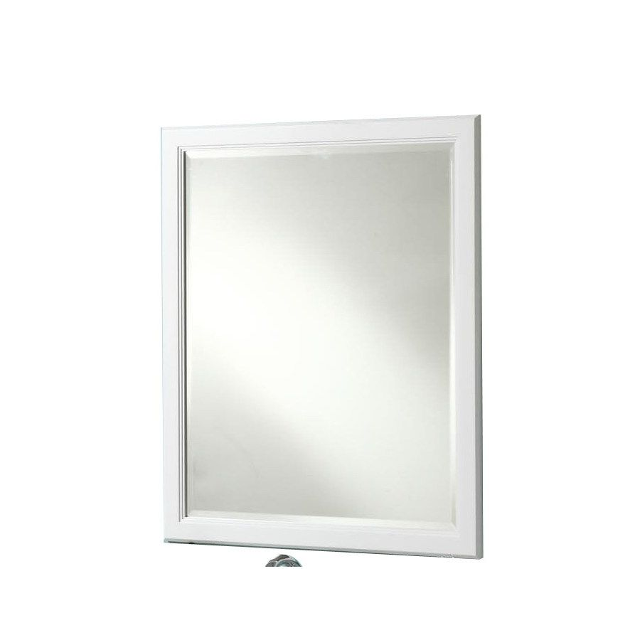Best Photo Gallery Websites Style Selections Vanover in W x in H White Rectangular Bathroom Mirror