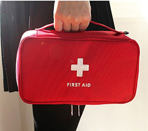 Kamsol Durable Poly First Aid Bag Empty Emergency Pouch Pack Firstaid Kit Pouch Storage Essential Medici Travel Survival Kit Camping First Aid Kit Survival Bag