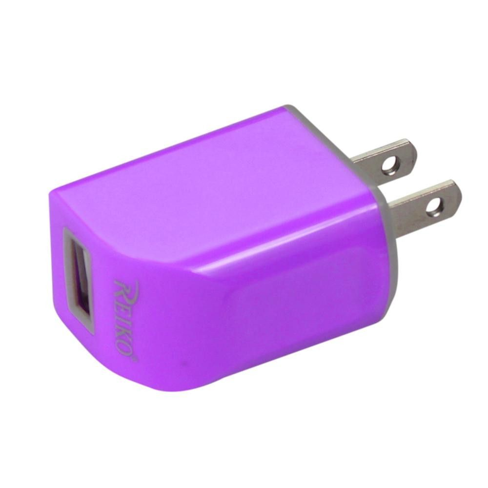 Reiko Travel Charger 1A5V With 39Inches Data Cable For 8 Pink Appl Device Purple