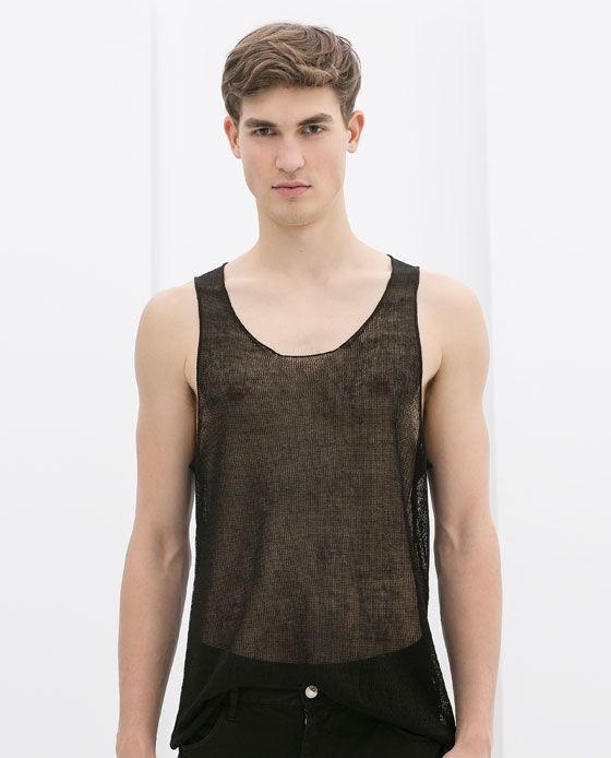 d837c0193c833 ZARA - MAN - SHEER TANK TOP