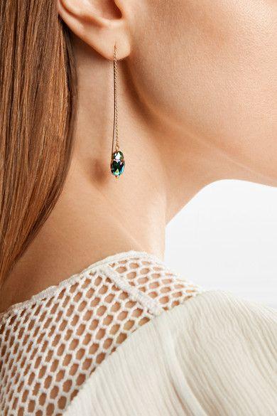 908127d2109 ISABEL MARANT fashionable Gold-tone crystal earrings | CFLUXEBeauty ...