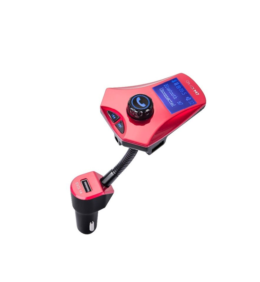 Hot sale M7 Bluetooth MP3 Player Handsfree Car Kit with led
