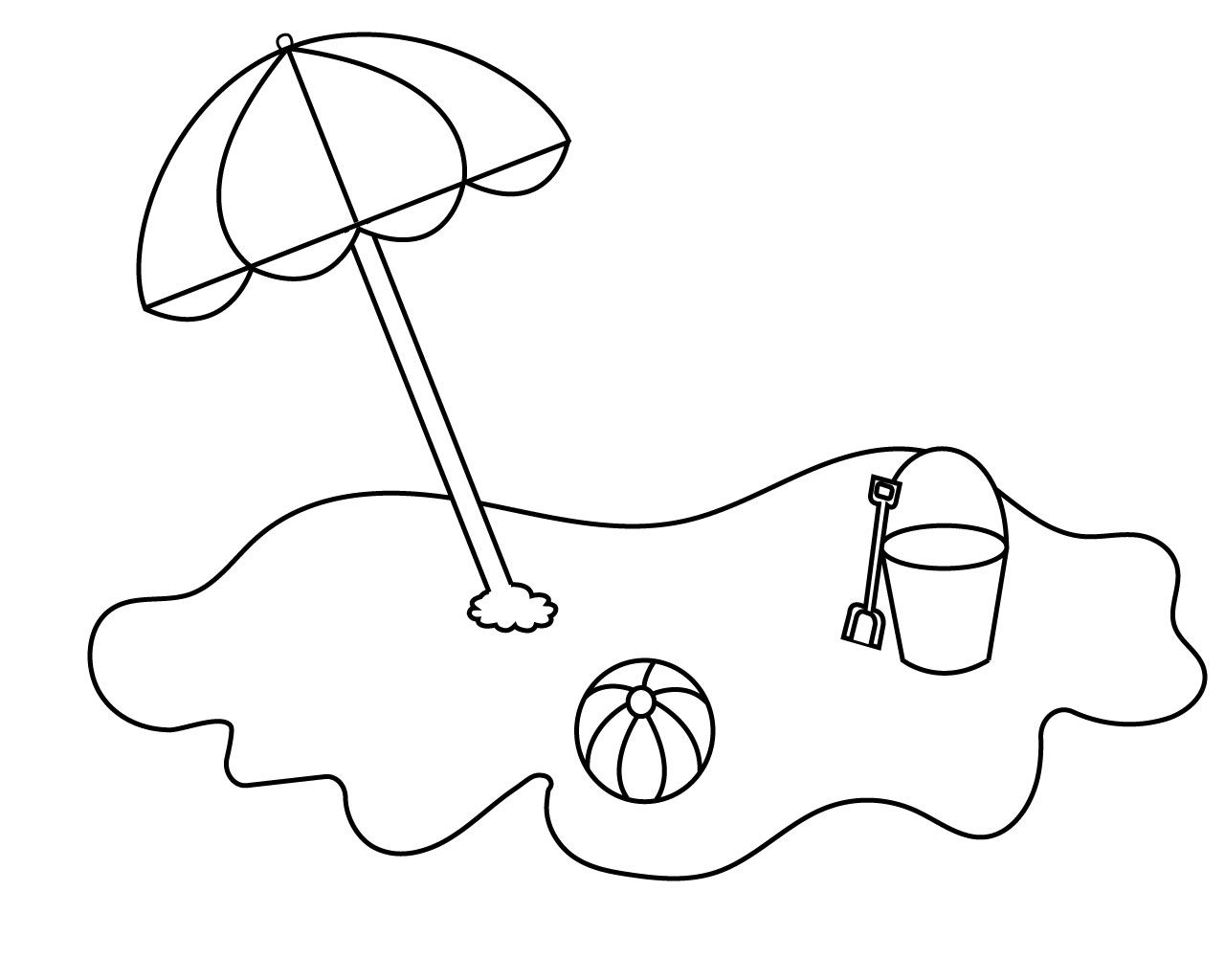 Umbrella Coloring Pages For Your Little Ones Umbrella