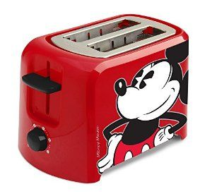 Amazon.com: Disney DCM-21 Mickey Mouse 2 Slice Toaster, Red/Black: Kitchen & Dining