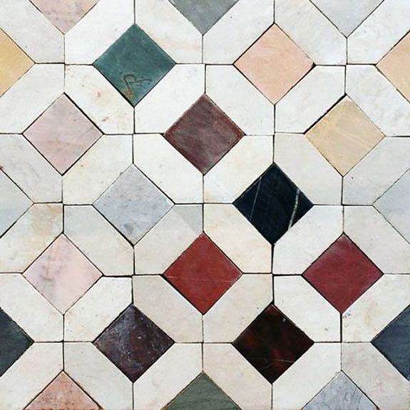 Colorful Square Tiles With White Border Tiles