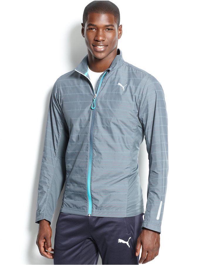 Puma Pure Nightcat Striped Performance Jacket - Men\u0027s Fashion, sportswear,  jacket.