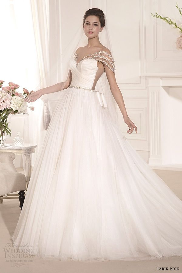 Tarik Ediz White 2014 Wedding Dresses — Part 2 | Bridal collection ...