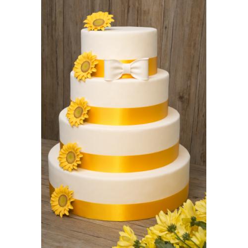 Gateau de mariage jaune