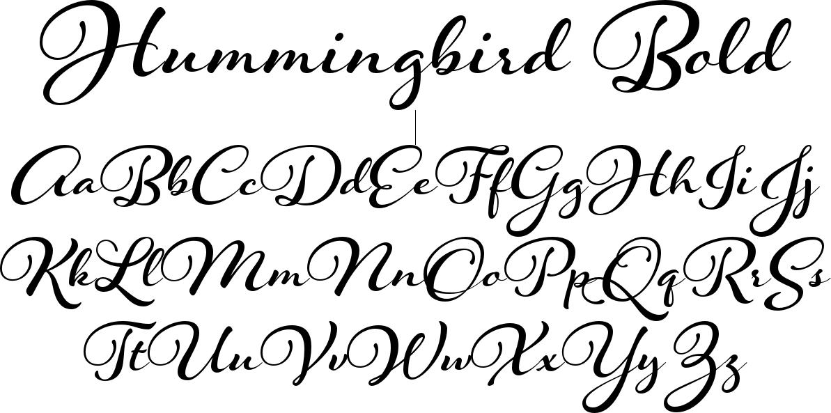 Hummingbird Bold (1193×593) | Cursive fonts alphabet, Cute ...
