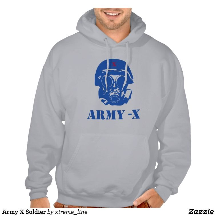 #Army X Soldier Alternative Hooded Sweatshirt. #Pullovers #Clothing #Hoodies #Zazzle