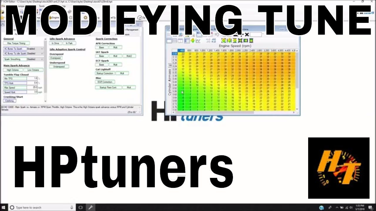 LT1 411 LS1 pcm swap part 6 Tuning with HPtuners Making some simple