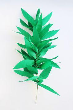 Mar 3 how to make a crepe paper leaf garland pinterest crepe diy crepe paper garland hank hunt mightylinksfo