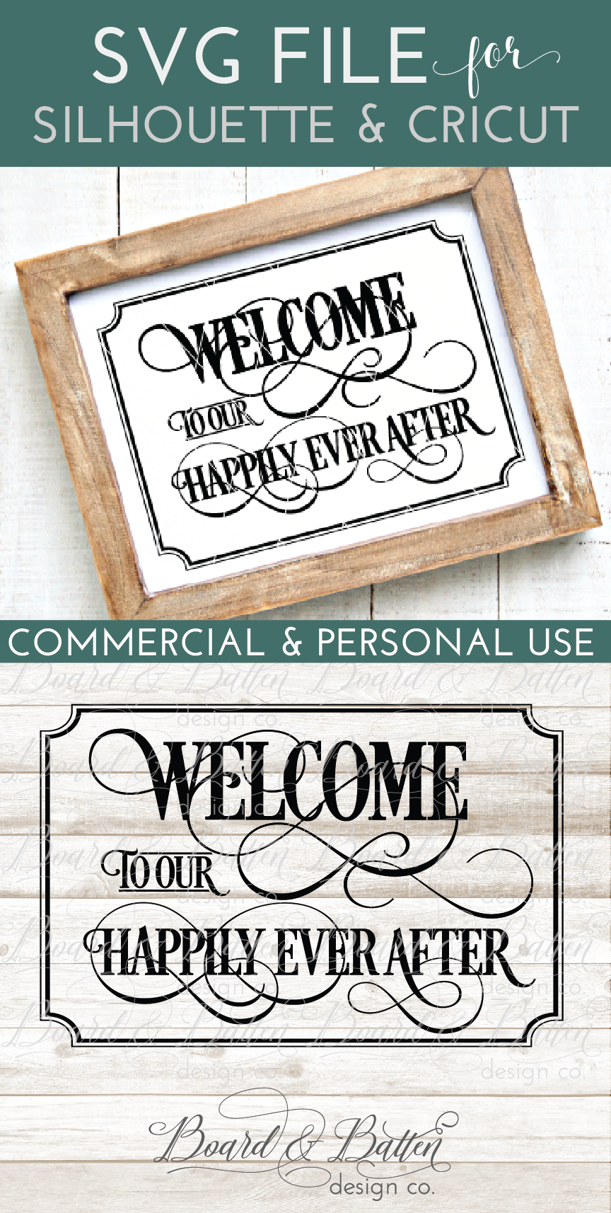 Welcome To Our Happily Ever After Svg File Ws5 Cricut Wedding Silhouette School Blog Cricut