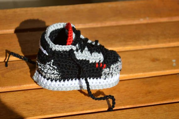 71fb49ce5 Nike Air Jordan 3 Crochet Baby Booties handmade shoes inspired to model jordan  3 Ideal for babies Enter your baby in the world of sneakers The shoes can  ...