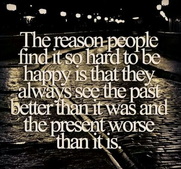 We must choose to be happy.