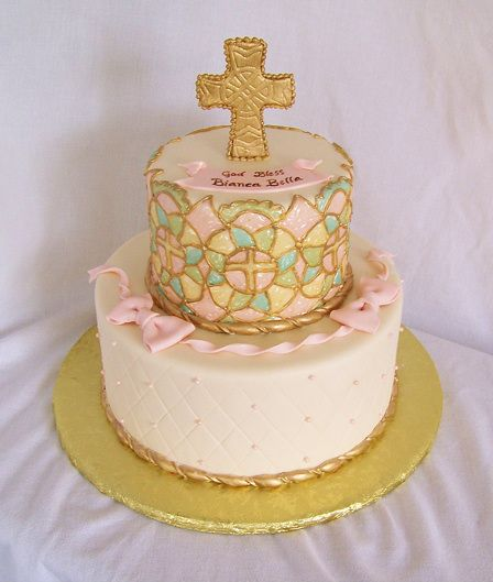 Pretty stained glass cake