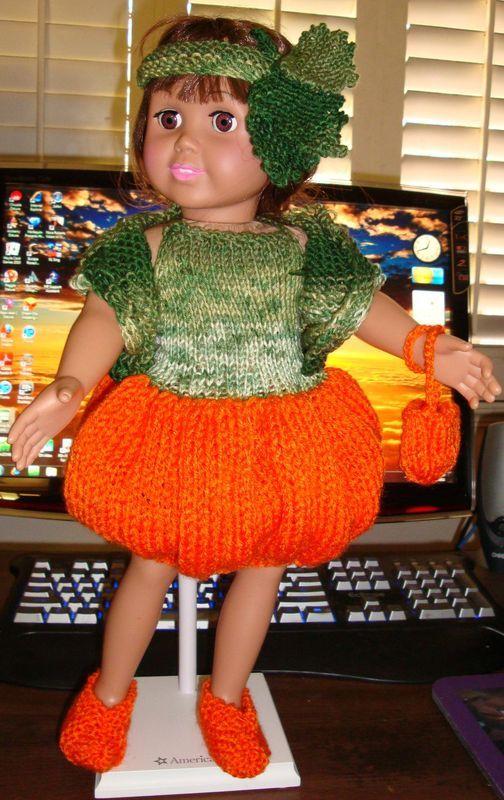 Ladyfingers - AG doll - Halloween Pumpkin Costume | Knitting ...