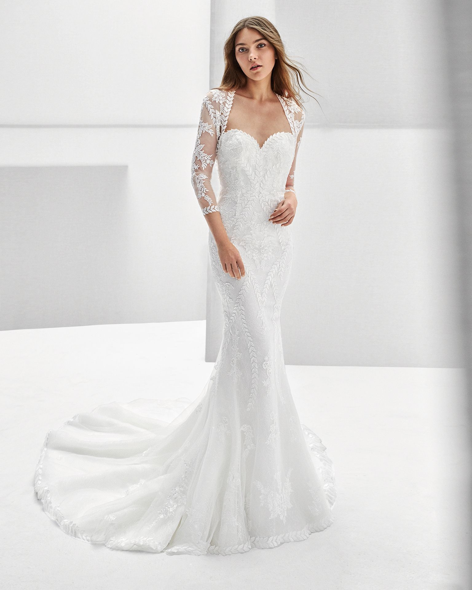 2018 Alma Novia Collection REX Mermaid-style beaded guipure lace ...