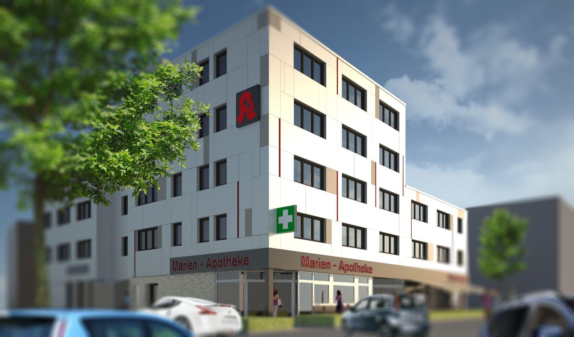 Architekt Leverkusen eine veränderung vom erscheinungsbild des montanuszentrum in
