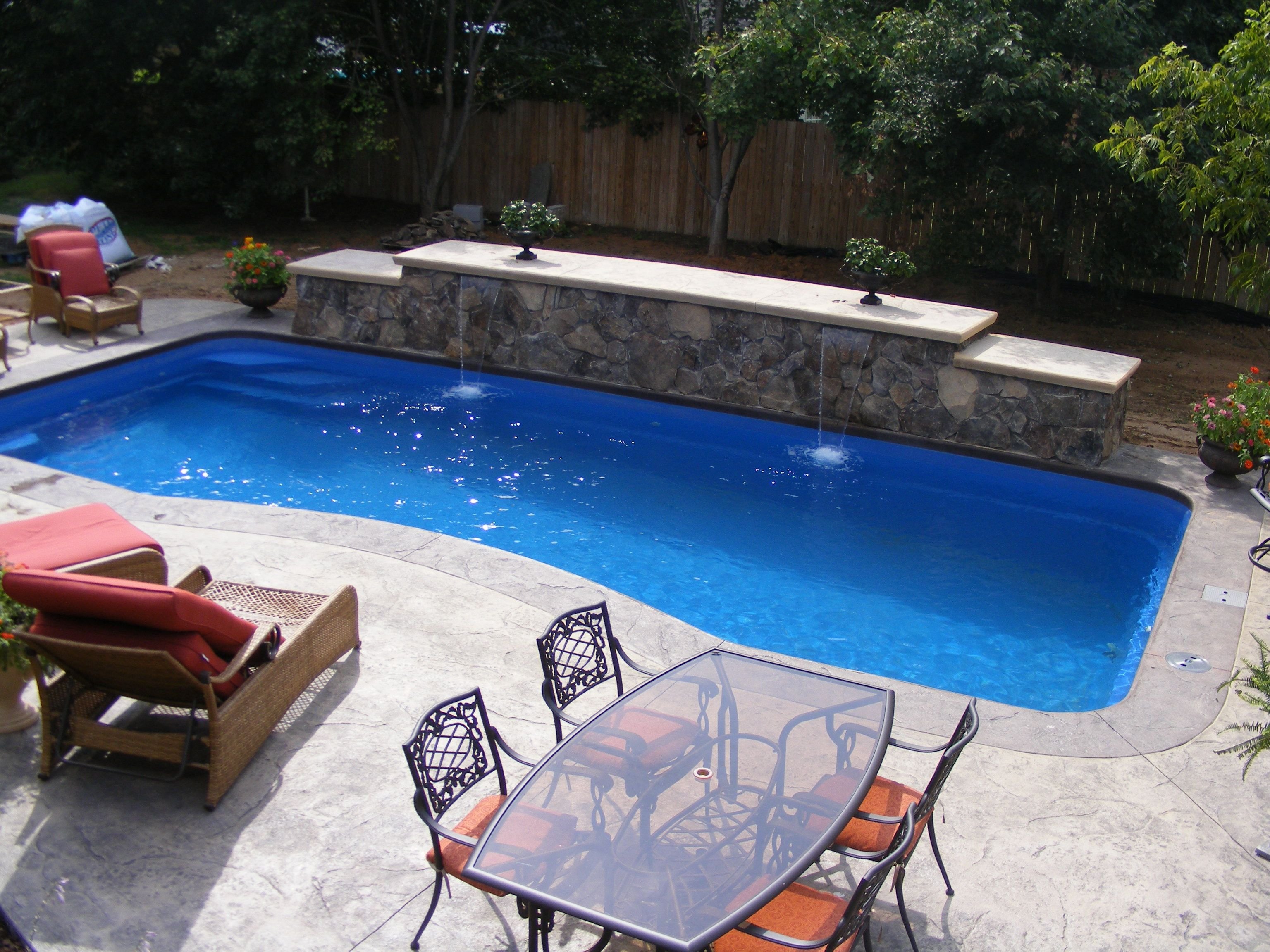 Small Inground Pools With Water Feature | Chesapeake Pool Builders: Another  Vinyl Liner Builder In The .