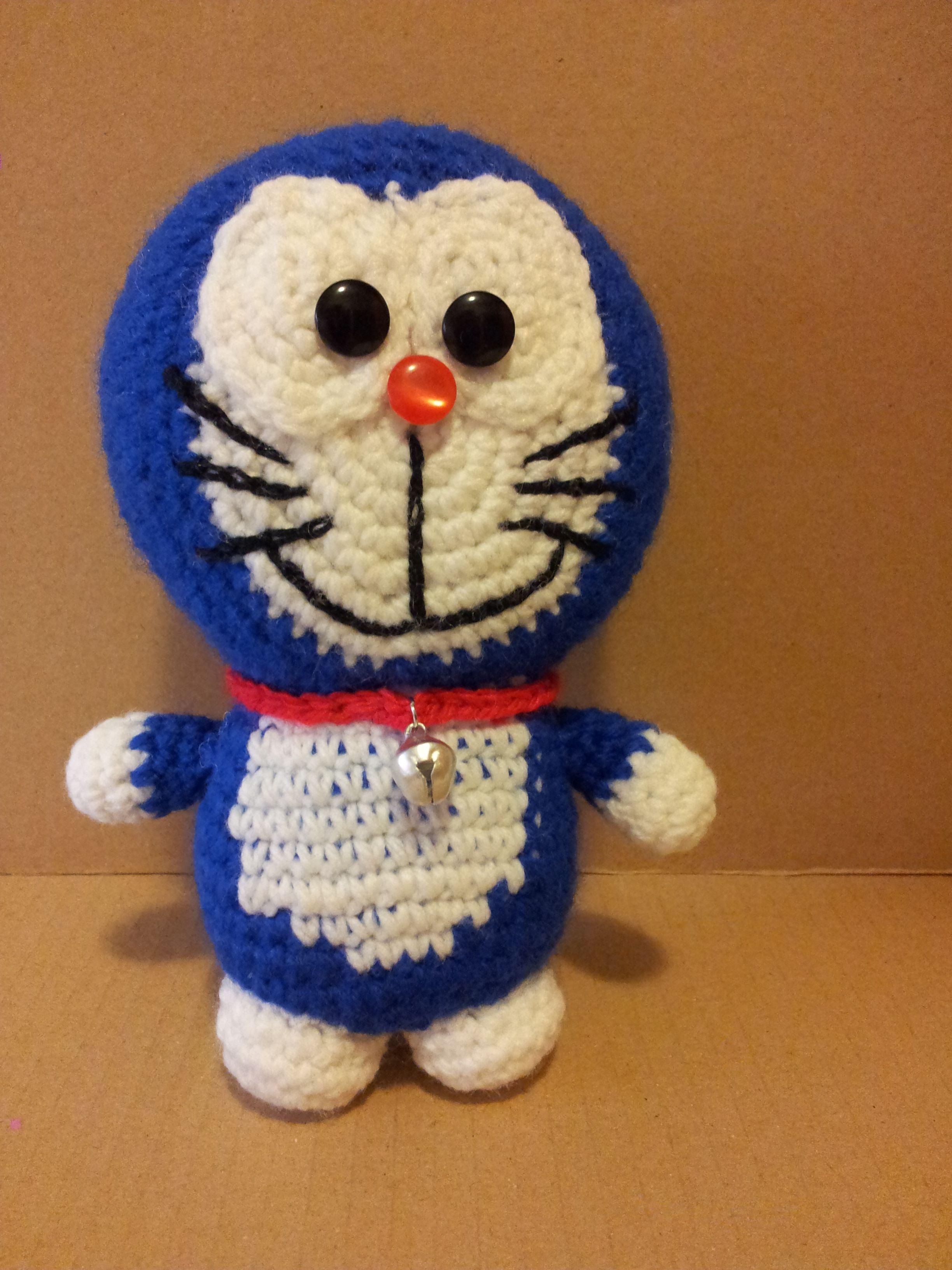 """""""Doraemon, el Gato Cósmico"""" amigurumi. Mas información en: nekagurumi.blogspot.com"""
