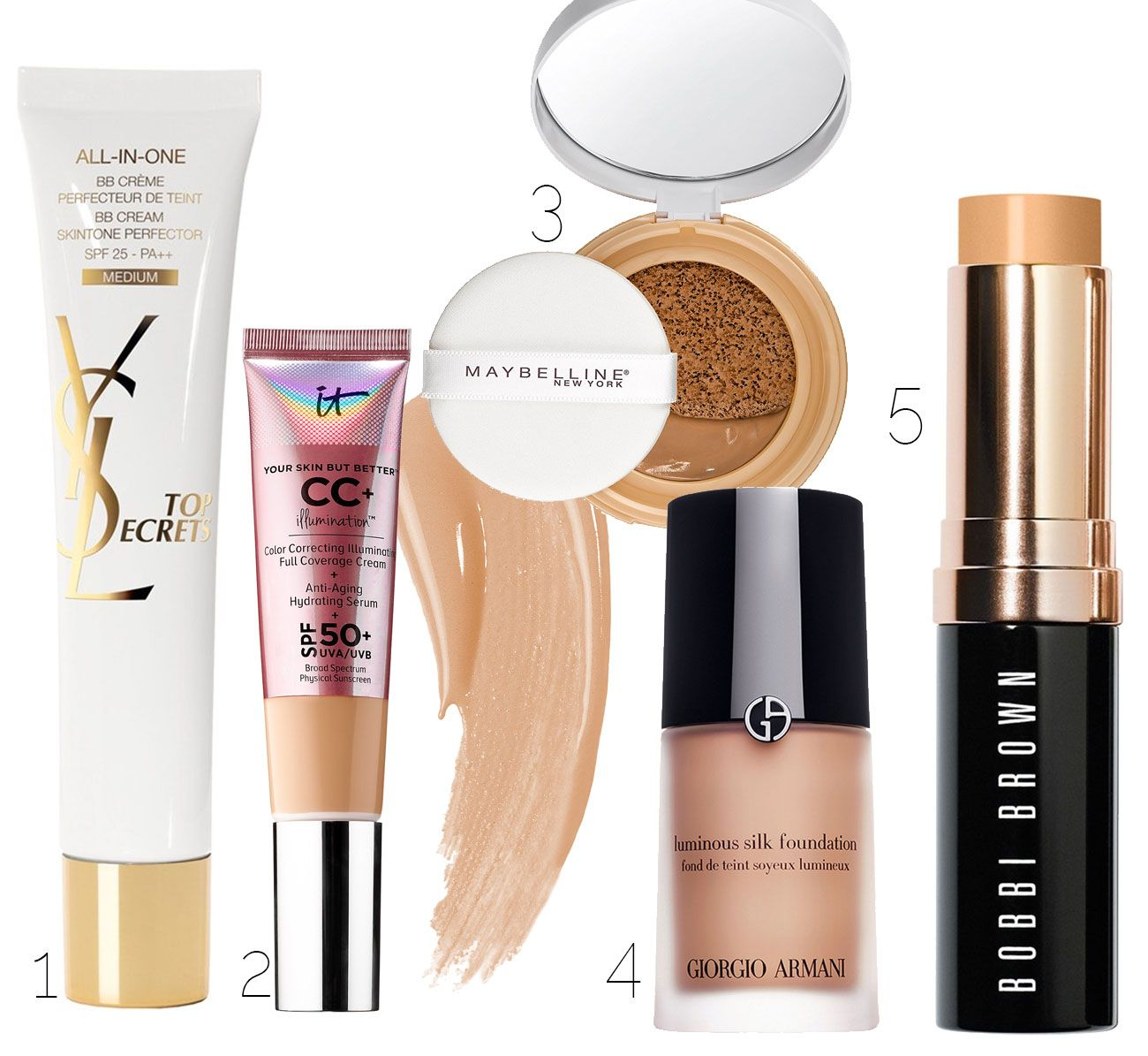 This is the best list of MUST HAVE makeup items! 5 items for the perfect makeup kit, and great product recommendations for each step!